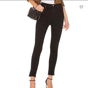 Agolde Sophie black skinny denim high waist jeans